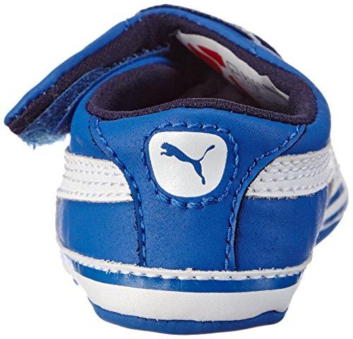 Puma Crib Pack Tom & Jerry, Chaussures souples mixte enfant Bleu (Strong Blue/White 01)