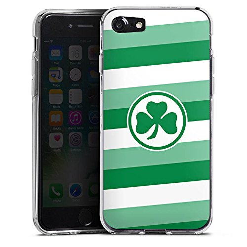 Apple iPhone X Silikon Hülle Case Schutzhülle Greuther Fürth Fanartikel SPVGG Silikon Case transparent