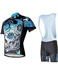 Maillot de vélo à manches courtes à vélo pour hommes avec bavoir Terylene T-shirt à bas confort respirant et respirant Ensemble de pantalons courts et bretelles Ensembles de vélos