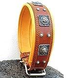 Bestia genuine leather dog collar, Large breeds,...