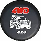 LITTOU Universal Reserveradabdeckung 4WD 4X4 Weiches Leder Fall Schutz (17