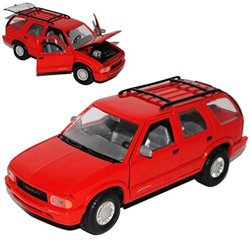 GMC Jimmy 1994 SUV Rot 1/24 Motormax Modell Auto mit individiuellem Wunschkennzeichen (Gmc Spielzeug Auto)