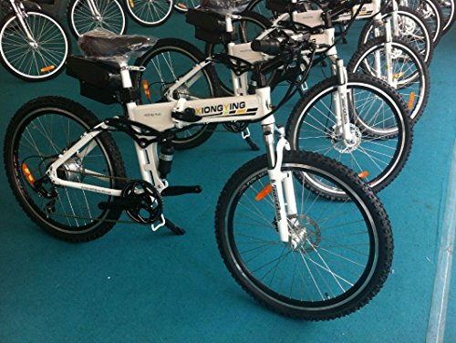 Folding Electric Bike 250w with a 36v10ah lithium battery Limitless Sharing (white)