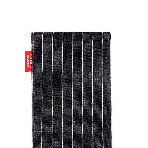 fitBAG Rock Blanc housse pochette pour téléphone portable en tissu intérieur en microfibres pour Apple iPhone 6 Plus / iPhone 6S Plus 5.5 inch avec Apple Leather Case Twist Noir
