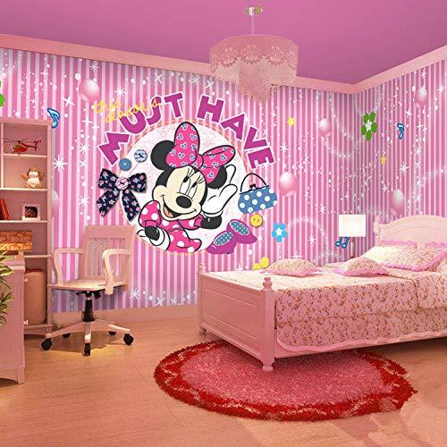 ZNNBH Selbstklebende 3D-Wandbilder (B) 350X (H) 256Cm Zeichentrick-Maus Fototapete 3D-Tv-Hintergrund Schlafzimmer Wohnzimmer Moderne Malerei Tapetenbilder 3D-Wandbilder Kinderzimmer Backg