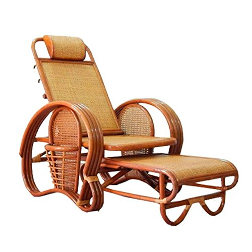 Sungao Naturel Bambou - rotin Osier chauffeuse/inclinable Chaise/Lay Chaise/couché Chaise/Siege