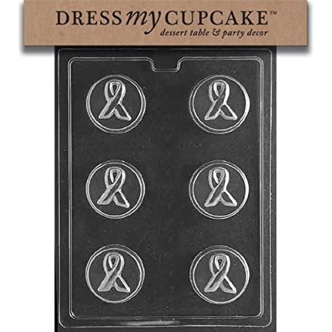 Dress My Cupcake dmcm225set Chocolate Candy Mold, conciencia cinta Cookie, juego de 6