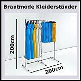 200x208x60 PROFI KLEIDERSTÄNDER ECKSTÄNDER KLEIDERSTANGE GARDEROBE-K200W