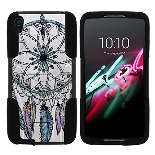 turtlearmor | Alcatel OneTouch Idol 3 Fall (14 cm) [Gel Max] Hybrid Dual Layer Hard Shell Ständer Silikon Fall -, Dreamcatcher Feathers - Alcatel One Camo Touch
