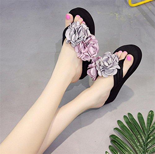 pengweiPantofole spesse di spiaggia di sabbia con pantofole fiori di moda signore fresche pantofole 2