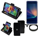 K-S-Trade® Case Schutz Hülle Für -Hisense A2 Pro- + Bumper Handyhülle Flipcase Smartphone Cover Handy Schutz Tasche Walletcase Schwarz (1x)