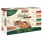 4 x Animonda Cat Frischebeutel Multipack Rafine Soupé 12x100g, Nassfutter, Katzenfutter