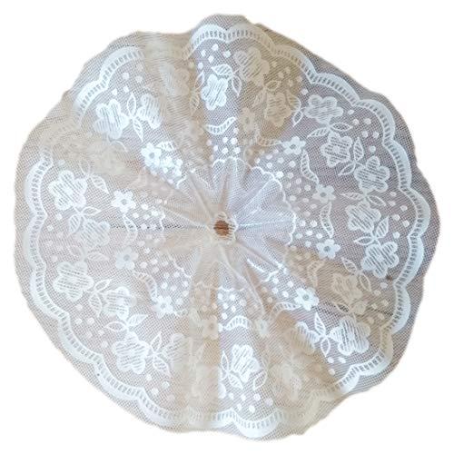 Sybille Zanoll - Dekoartikel Biedermeiermanschette weiß 18cm 10 Stück