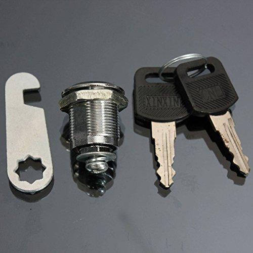 Preisvergleich Produktbild AUDEW Briefkastenschloß Schrankschloss Zylinderschloß Schloss mit 2 Schlüssel 20MM