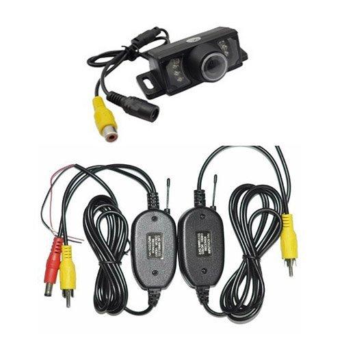 Universal-backup-kamera (Wireless Car Backup Kamera, High Definition Farbe breit Blickwinkel Universal Wasserdicht Auto Nummernschild Backup Kamera mit 7Infrarot Nachtsicht LED)