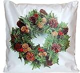 tischdecken-iris-shop Kissenhüllen Kissenhülle 40x40 cm Weihnachten (Schneemann mit Wollmütze)