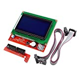 WINGONEER Kit de controlador de impresora 3D Rampas 1.4 + Controlador de pantalla inteligente gráfica completa + Mega2560 + A4988 Controlador de motor de velocidad gradual para RepRap (Controlador de pantalla inteligente gráfica completa LCD 12864)