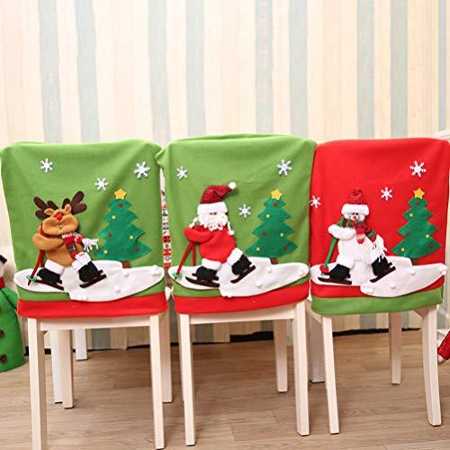 LIOOBO 1Pz Cubierta de Silla de Navidad Decoración Fundas Decorativas para Sillas...