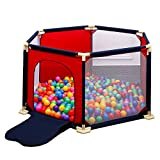 Laufgitter Extra Groß Playpens-Baby 6 Panel Safety Playard Tragbar, Indoor Kleinkinder Sicherheitszaun Kinderaktivitätszentrum, Durchmesser 180 cm