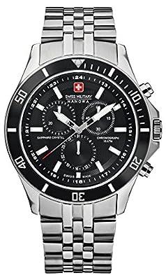 Reloj Swiss Military 06-5183.04.007 de cuarzo para hombre con correa de acero inoxidable, color plateado de Swiss Military Hanowa