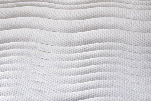 Traumnacht 03892430159 4-Star Orthopädische 7-Zonen Tonnentaschenfederkern-Matratze Härtegrad 2 (H2), 90 x 200 cm, weiß -