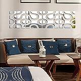Anself DIY 3D Set de 4Pcs Pegatinas de pared del efecto espejo de acrílico extraíble moderna tatuajes mural de arte para la decoración del hogar 30 *