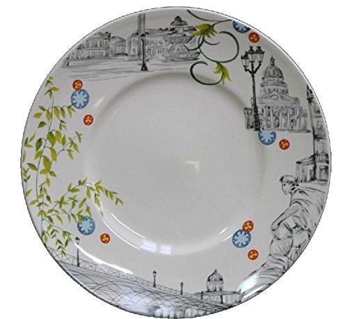 Faïencerie de Niderviller Assiette Plate Paris Ø27,5cm faïence - Lot de 4