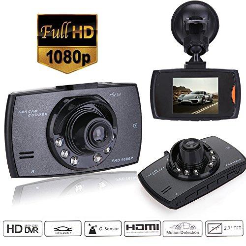 Dash Cam HD 1080P Auto Camcorder, ANGGO Autofahren Recorder mit High Sensitive G-Sensor WDR Enhance Nachtsicht, Motion Detection, Parkplatz-Monitor, Loop Recording, 140 ° Weitwinkel (schwarz)
