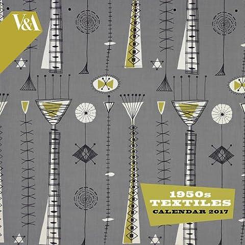 V&A - 1950s Textiles wall calendar 2017 (Art (1950 Calendario)
