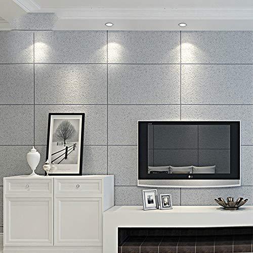 XFDJYA Tapete Geprägte natürliche Tapeten-Ziegelstein-große Fliesen-Gitter-Wand-Papierrollen des Stein-3D für Wohnzimmer-Schlafzimmer, WP59901,10mx53cm -