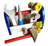 #4: Toyshine Pretend Play Wooden Tool Box Toy Kit