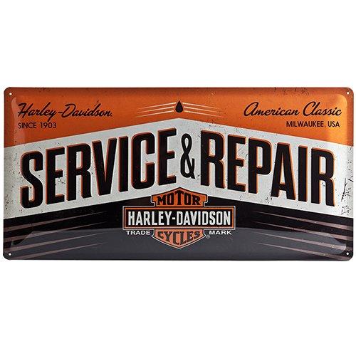Nostalgic Art Harley Davidson Service & Repair - Placa decorativa, met