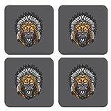Best Headdresses - PosterGully - Gorilla Wearing Aztec Headdress - Set Review