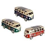 VW Bulli T1 Modellauto Spielzeug Auto Bus Sammlerstück Grafitti Druck Hippi (Orange)
