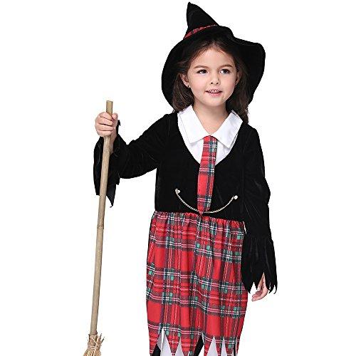 Hexe Halloween Kostüm Kinder Festival Performance Kostüm Party Cosplay Kleider Outfit (Einzigartige Gruppe Halloween-kostüme)