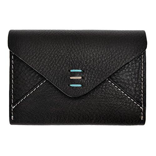 ZLYC - Leder-Kartenhülle Damen, Schwarz (schwarz), Einheitsgröße