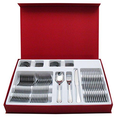 Inoxriv servizio posate 48 pz ranieri, acciaio inox + cofanetto design