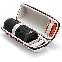 Étui Rigide Housse de Transport pour JBL Flip 4 / JBL Flip 3 Sans fil Enceinte portable Bluetooth,Adapté au câble USB et au Chargeur Mural - silver