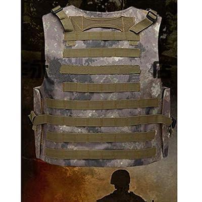 GRZP Taktische Weste, CS-Feld-Outdoor-Ausrüstung liefert atmungsaktive leichte Spezialeinheiten Kampf-Trainingsweste CS Rollenspiel Spiel Camping Jagd Angeln Kampf-Trainingskrieg
