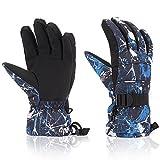 Ski Gloves, Yidomto Waterproof Warmest Winter Snow Gloves for Mens, Womens, Boys, Girls