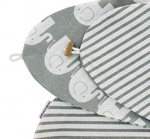 almohada de Lactancia, 190cm, en diferentes colores y diseños, de Hobea Alemania...