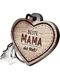 "Schlüsselanhänger aus Holz – ""Beste Mama der Welt!"""