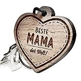 "Schlüsselanhänger aus Holz - ""Beste Mama der Welt!"""
