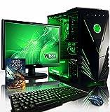 """VIBOX Standard 3XW - Ordenador para gaming (21.5"""", AMD A8-7600, 8 GB de RAM, 2 TB de disco duro, AMD Radeon R7) color neón verde - Teclado QWERTY Inglés"""