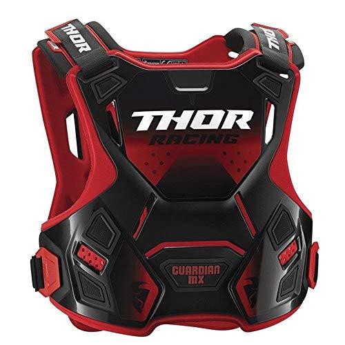 Thor Guardian MX Motocross Brustpanzer Protektor Offroad Enduro Cross Sx Mtb Quad Atv Schwarz Rot Grün Weiß (M/L, Rot)