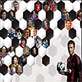 Tapeten Wandbild Wandaufkleber3D Bodenfliesen Benutzerdefinierte Mural Home Decoration Mode Fußballstars Blendung Hintergrund Sofa Tv Hintergrund 3D Tapete Wandbild, 250 * 175 Cm