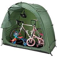 QSCZZ Tienda de Bicicletas, Bicicletas de montaña al Aire Libre Aparcamiento Carpa, Escombros Hogar Bodega, con la Ventana de diseño, para Acampar al Aire Libre (200 x 85 x 165 cm),Verde