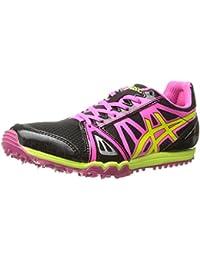 ASICS Women's Hyper Rocketgirl Xc Spike Shoe Black/Hot Pink/Flash Yellow 5 B(M) US