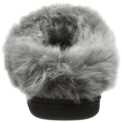 Dearfoams Damen Chunky Novelty Knit Clog with Memorry Foam Hausschuhe Grey (Light Heather Grey 00071)