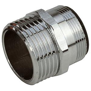 GARDENA Perlstrahl-Gewindeadapter: Adapter zum Anschluss des GARDENA Systems an Wasserhahn mit Perlstrahlkopf, mit M 24 x 1 und 26.5 mm (G 3/4)- Außengewinde, zum Beispiel in Küche und Bad (2910-20)